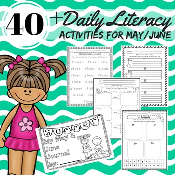 Daily 5 Literacy Block Activities for May/June Reading, Wr