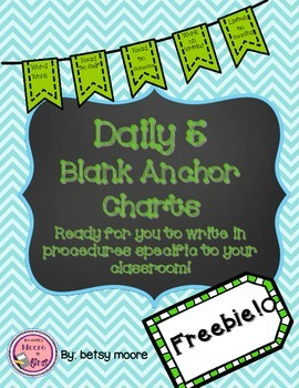 Daily 5 Anchor Chart Behaviors/Procedures Freebie