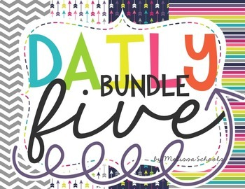 Daily 5 BUNDLE [includes CAFE posters]