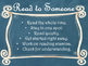 Daily 5 Behaviors Anchor Charts/Signs/Posters (Blue Chalkb