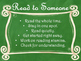 Daily 5 Behaviors Anchor Charts/Signs/Posters (Green Chalk