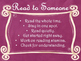 Daily 5 Behaviors Anchor Charts/Signs/Posters (Pink Chalkb