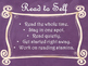 Daily 5 Behaviors Anchor Charts/Signs/Posters (Purple Chal