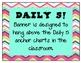 Daily 5 Bunting Banner