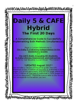 Daily 5 CAFE Hybrid: The First 20 Days