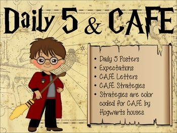 Daily 5 & CAFE Posters - Harry Potter Theme