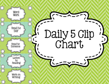 Daily 5 Centers Clip Chart