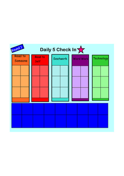 Daily 5 Check-In for SMARTBOARD-EDITABLE!