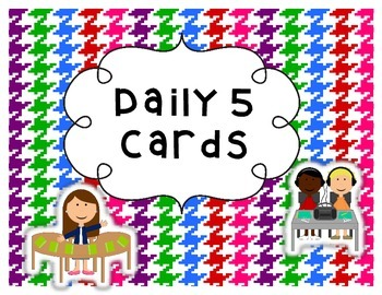 Daily 5 Choice Cards - Bright Color Dots