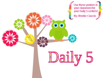 Daily 5 Classroom Owl Pack