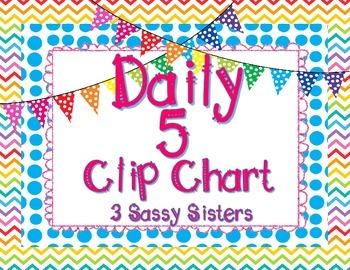 Bright Daily 5 Clip Chart Set