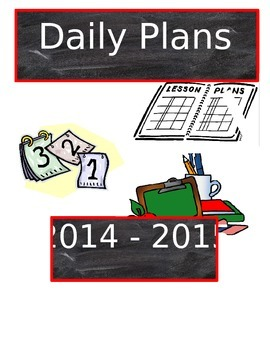 Daily Plans Binder Cover