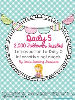 "Daily 5 Interactive Notebook ""Get Started"" pages! 2,000 Fo"
