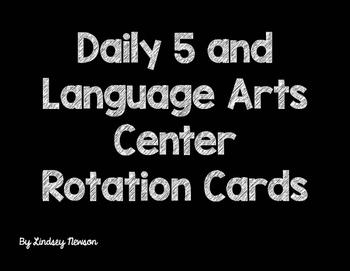 Daily 5/ Language Art Center Rotation Cards