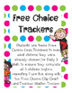 Daily 5 Math Free Choice Trackers