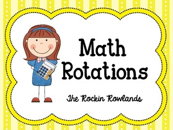Daily 5 Math Rotation Labels