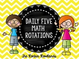 Daily 5 Math Schedule