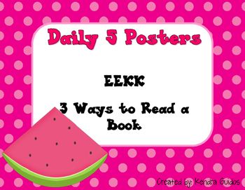 Daily 5 Posters {Watermelon Theme}