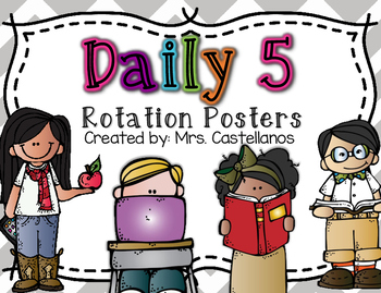 Daily 5 Posters in Grey, Purple, Blue, Pink, and Bright Chevron