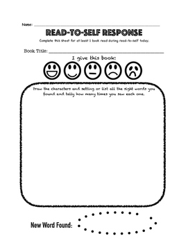 Daily 5 Read to Self Accountability Sheet