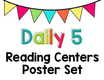 Daily 5 Reading Centers Chart - Editable Labels