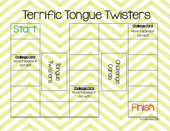 Daily 5 Reading Fluency Tongue Twister Game! Great for ESE