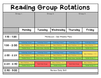 Daily 5 Reading Rotation Schedule