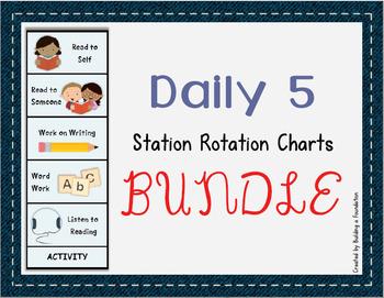 Daily 5 Rotation Charts - Seasonally Themed