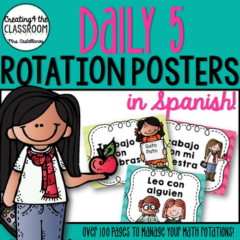 Daily 5 Rotation Posters in Spanish