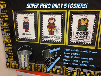 Daily 5 Super Hero Bulletin Board Set