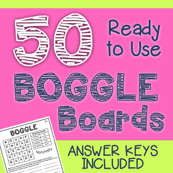 Daily 5 Word Work Boggle Boards