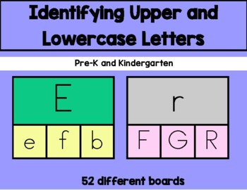 Daily 5 Word Work Identifying Uppercase and Lowercase Lett