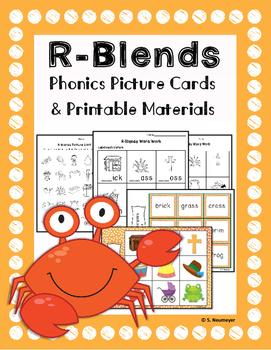 Phonics: R Blends Picture Mats & Worksheets