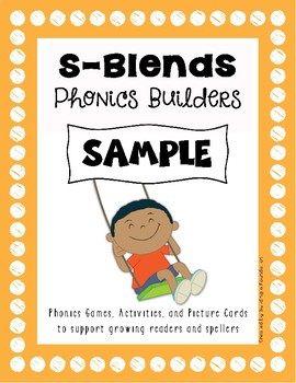 Phonics: S Blends Picture Cards & Worksheets {SAMPLE}