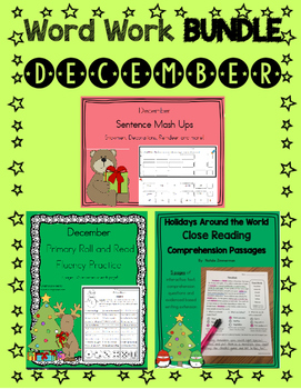 Daily 5 Word Work and Reading BUNDLE:  December