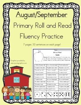 Daily 5 Word Work and Reading Roll and Read Fluency August