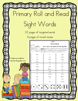 Daily 5 Word Work and Reading Roll and Read Fluency:  Sight Words