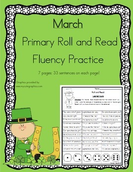 Daily 5 Word Work and Reading Roll and Read Fluency March