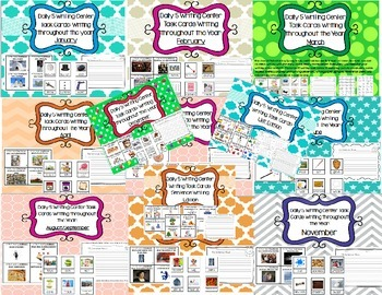 Daily 5 Writing Center Task Cards:ALL YEAR + Sentence Writ