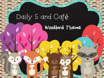 Daily 5 and Cafe   Woodland Theme