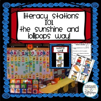 Literacy Station Packet 101 The Sunshine and Lollipops Way!