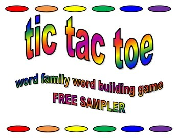 Word Family Word Building Game Sample Pack