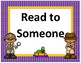 Daily 5 display~ Purple Polka Dot with Gold Trim Detective