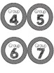 Daily 5 or Centers Signs and Rotation Cards Black and Whit