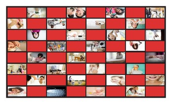 Daily Activities Checker Board Game