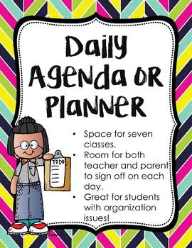 Daily Agenda/Planner