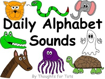 Alphabet Book, Beginning Sounds Practice, Pictures and Han