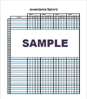 Daily Attendance Form