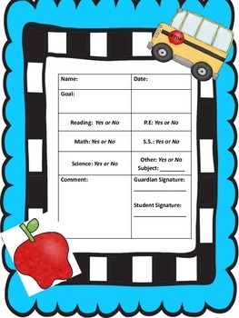 Daily Behavior Card