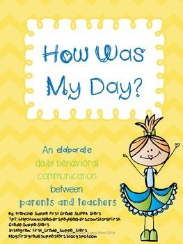 Daily Behavior Chart and Parent communication Form with St